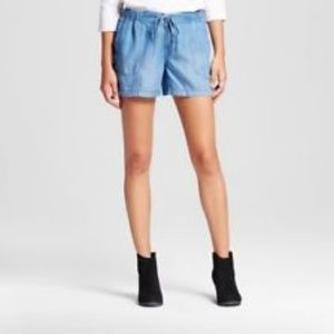 5/$20 Merona Chambray Drawstring Shorts
